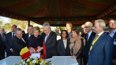 Photo of الأميرة أستريد تضع الحجر الأساس لبناء السفارة الجديدة لبلجيكا بالرباط