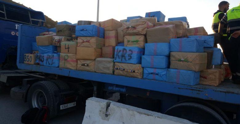الأمن المغربي : حجز 13 طنا و750 كيلوغراما من مخدر الحشيش بميناء طنجة المتوسط