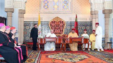 "Photo of أمير المؤمنين صاحب الجلالة الملك محمد السادس و البابا فرانسيس يوقعان ""نداء القدس"""