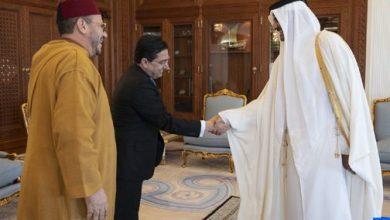 Photo of أمير دولة قطر يستقبل مستشار جلالة الملك فؤاد عالي الهمة