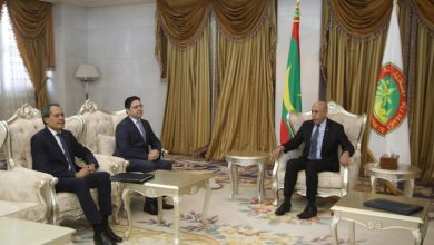 Photo of الرئيس الموريتاني محمد ولد الشيخ الغزواني يستقبل وزير الخارجية المغربي ناصر بوريطة